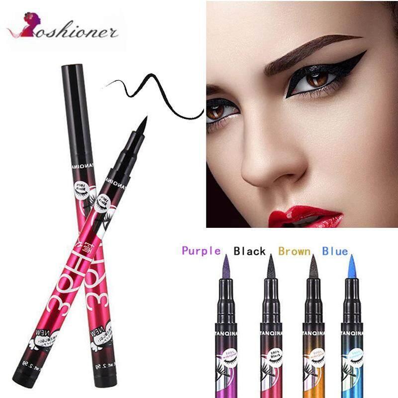 4 Warna Hitam 36 H Eyeliner Pensil Pena Tahan Air Presisi Tahan Lama Celak Cair Halus Peralatan Rias