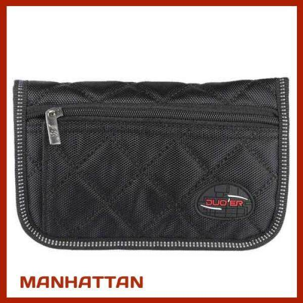 [ MANHATTAN ] Durable Trombone Euphonium Trumpet Mouthpiece Pouch Bag with 4 Soft Compartments Black (Black) Malaysia