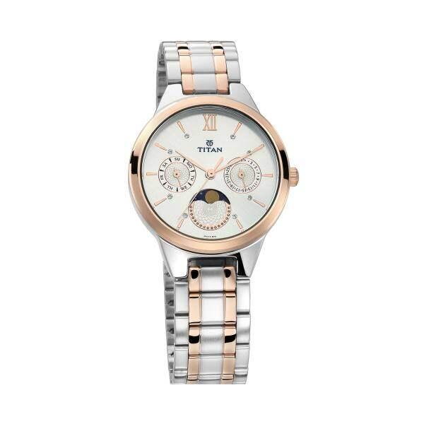 Titan 2590KM01 Work wear Watch with Analog Moon Phase Function Malaysia