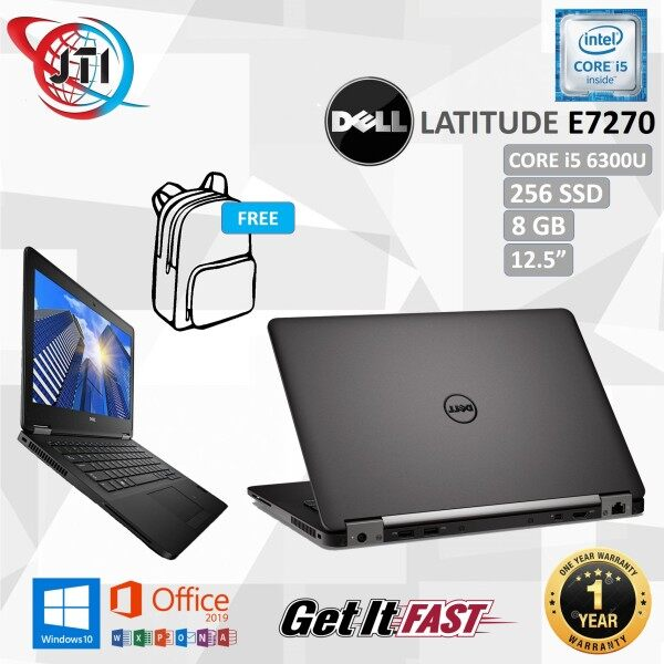 Dell Latitude E7270  CORE i5 6300U / 8 GB RAM / 256 GB SSD / 12.5 INCHES SCREEN / WINDOWS 10 PRO / REFURBISHED Malaysia