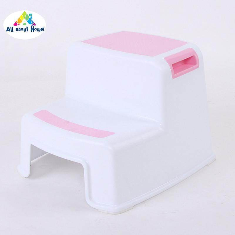 ABH 2 Step Toddler Stool Safety Slip Resistant Soft Grip for Bathroom Toilet Potty Training