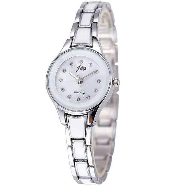 JW Classic 1034 Casual Bracelet Ceramic Woman Watch Free Watch Box (Silver) Malaysia