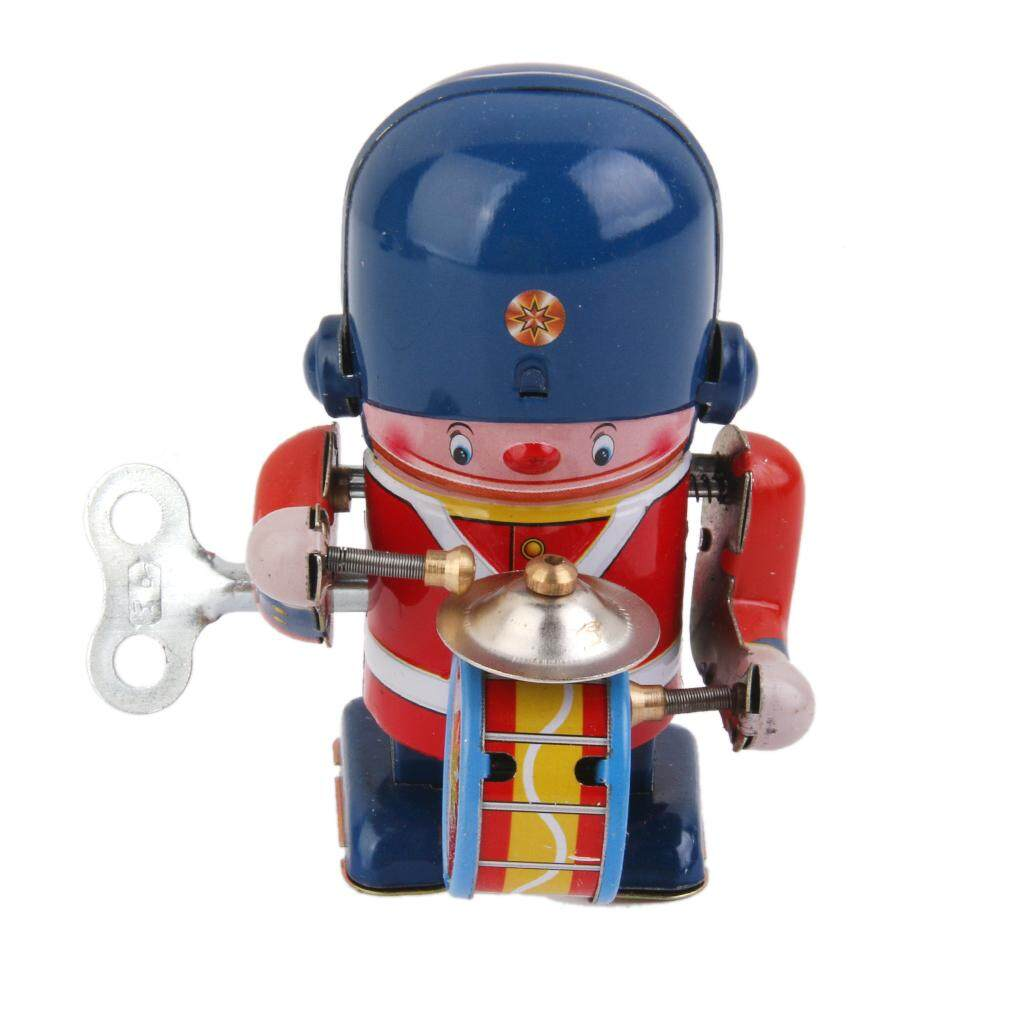 Perfeclan Wind Up Drummer Tin Toy By Perfeclan.