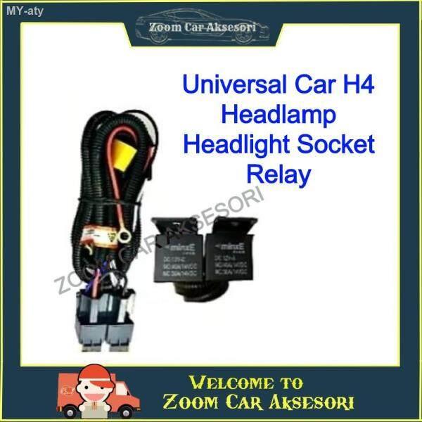 Universal Car H1H4H7H11 Headlamp Headlight Socket Relay