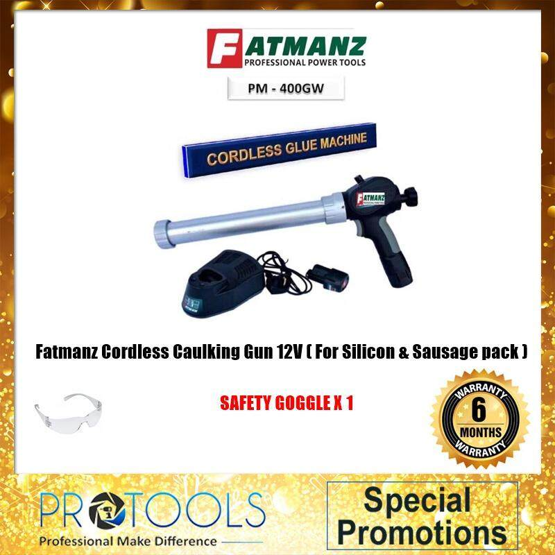 Fatmanz Cordless Caulking Gun 12V ( For Silicon & Sausage pack ) FOC SAFETY GOGGLE