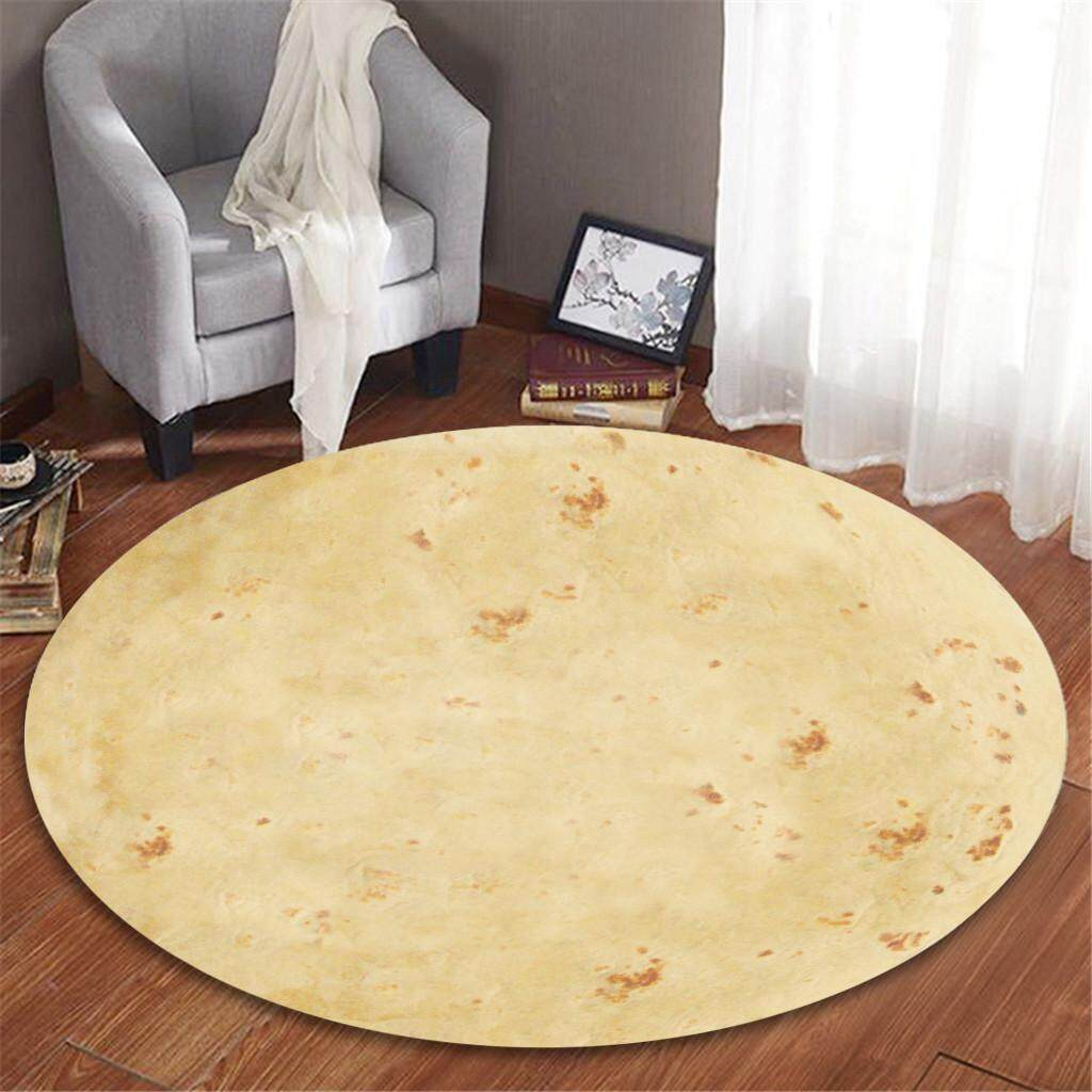 Malonestore Mexican Burrito Comfort Flannel Living Room Childrens Room Carpet 100cm