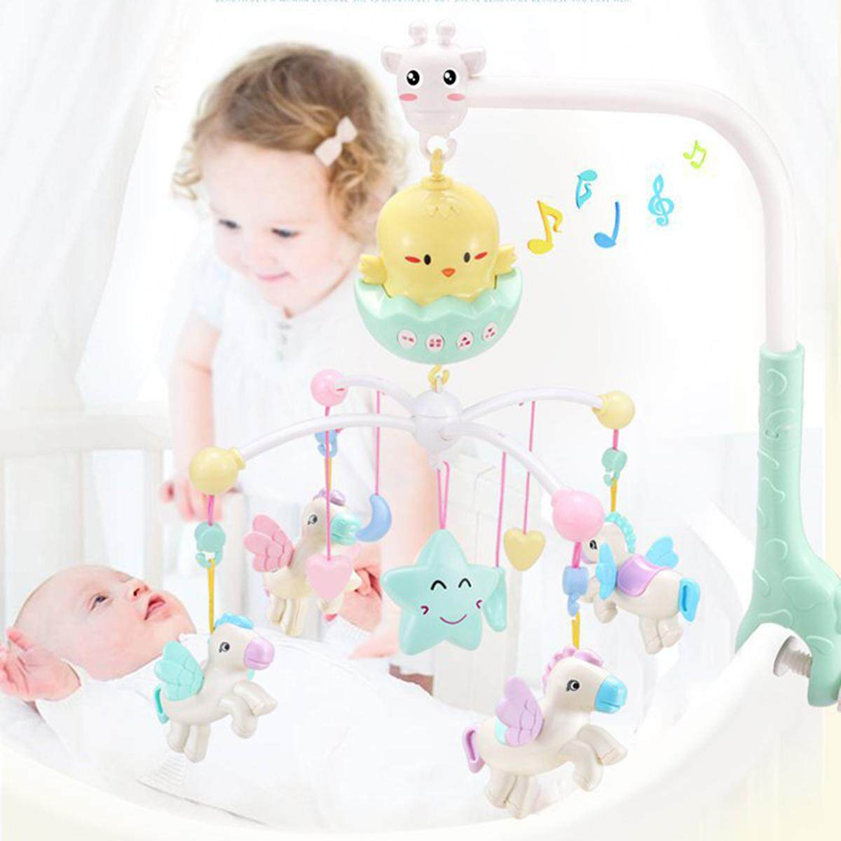 Baby Musical Crib Bed Cot Mobile Stars Dreams Light Flash Nusery Lullaby Toys By Freebang.