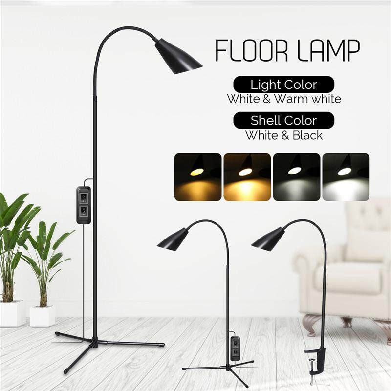【Free Shipping + Flash Deal】 Modern 1-7W Adjustable LED Floor Lamp Multi-function Standing Light 900LM Flexible Gooseneck USB Reading Home Dimmable Desk Table Light