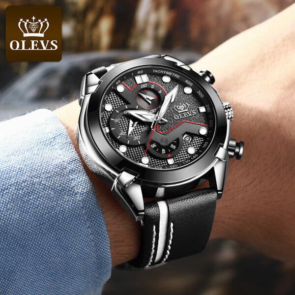 OLEVS jam tangan lelaki Fashion sport mens watch original Multifunction Large dial Timing running watch Luxury watch for man waterproof g shock Malaysia