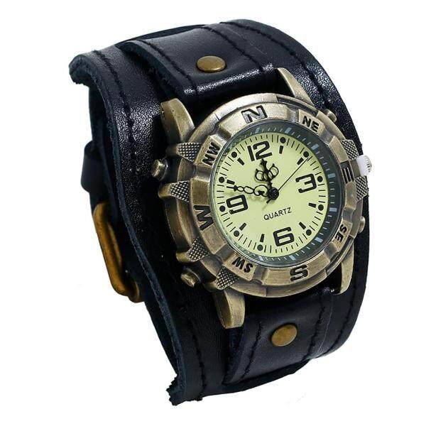 [YUE] Men Punk Retro Simple Fashion Pin Buckle Strap Leather Watch Malaysia