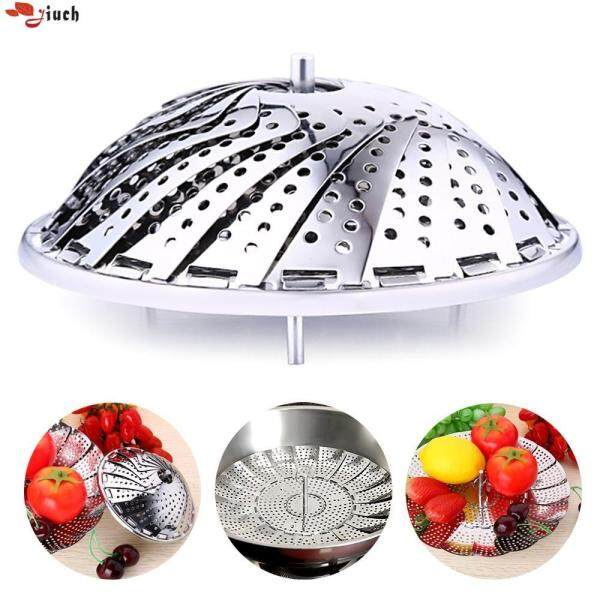 Jiuch Multifunctional Foldable Stainless Steel Plate Bun Taro Pads Tray Candy Tray Vegetable Food Container Stainless Steel Kitchen Accessories