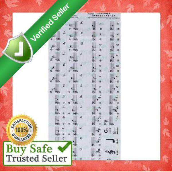 Transparent 49 61 Key Electronic Keyboard 88 Key Piano Stave Note Sticker for White Keys (Standard) Malaysia