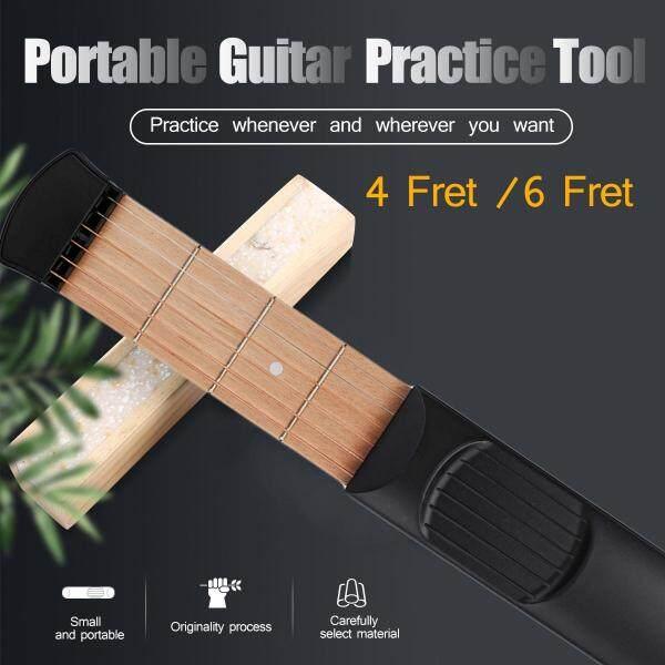 6 Dây 6 Màu Di Động Đàn Guitar Huấn Luyện Mới Bắt Đầu Bỏ Túi Guitar Thực Hành Ngón Tay Tập Thể Dục