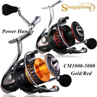 Sougayilang Kim Loại Toàn Bộ 13 + 1BB Ống Cuộn Câu Cá Kiểu Spinning Với Trái Phải Hoán Đổi Cho Nhau Tay Đối Với Nước Ngọt Cá Chép Biển Bass Fishing thumbnail