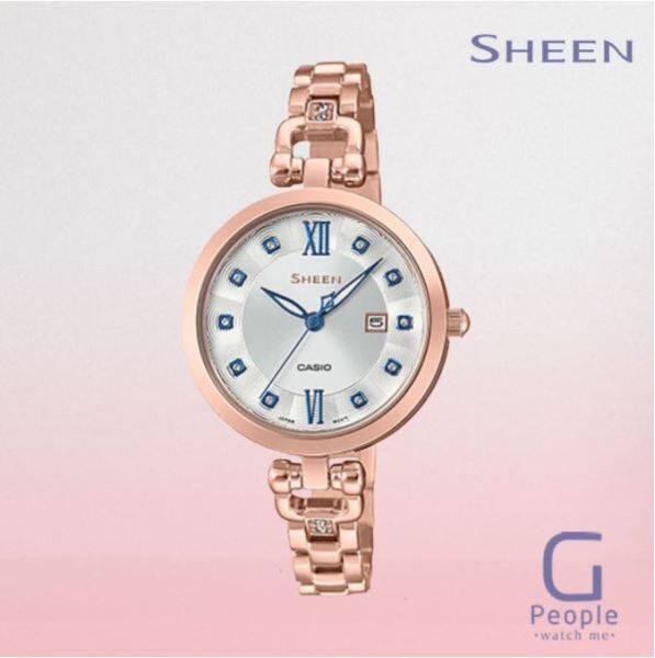 CASIO SHEEN SHE-4055PG-7A / SHE-4055PG-7 / SHE-4055PG WATCH 100% ORIGINAL Malaysia