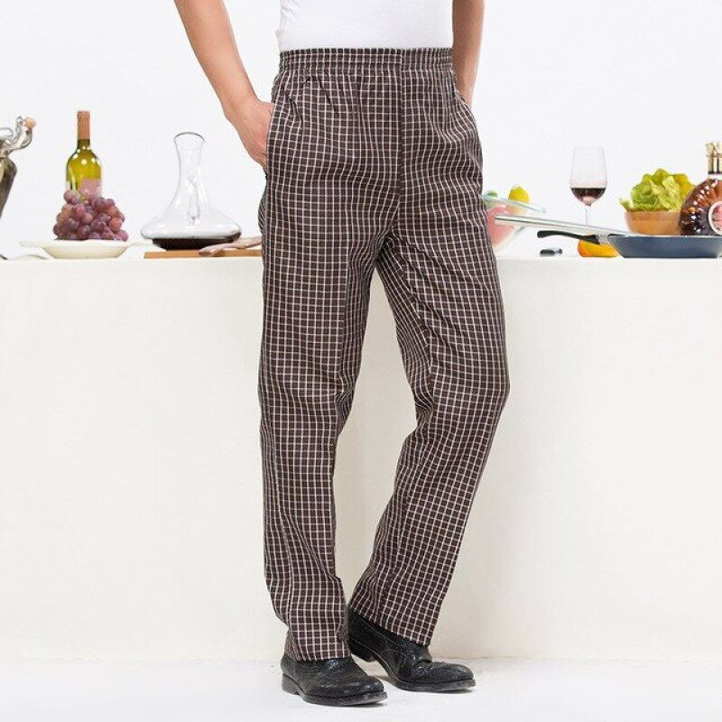 Chef pants zebra striped trousers breathable chef special tooling elastic waist chef work pants for men and women Wholesale new