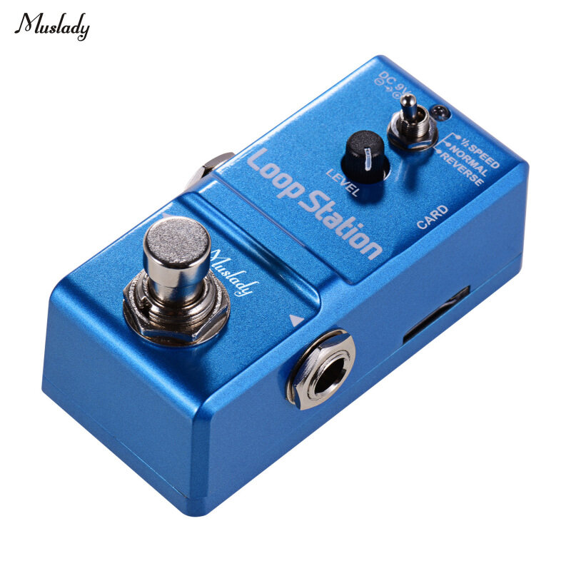 Muslady Loop Station Mini Guitar Looper Effect Pedal 10 Minutes Recording Time 3 Working Modes True Bypass Full Metal Shell with 1GB Memory Card Malaysia