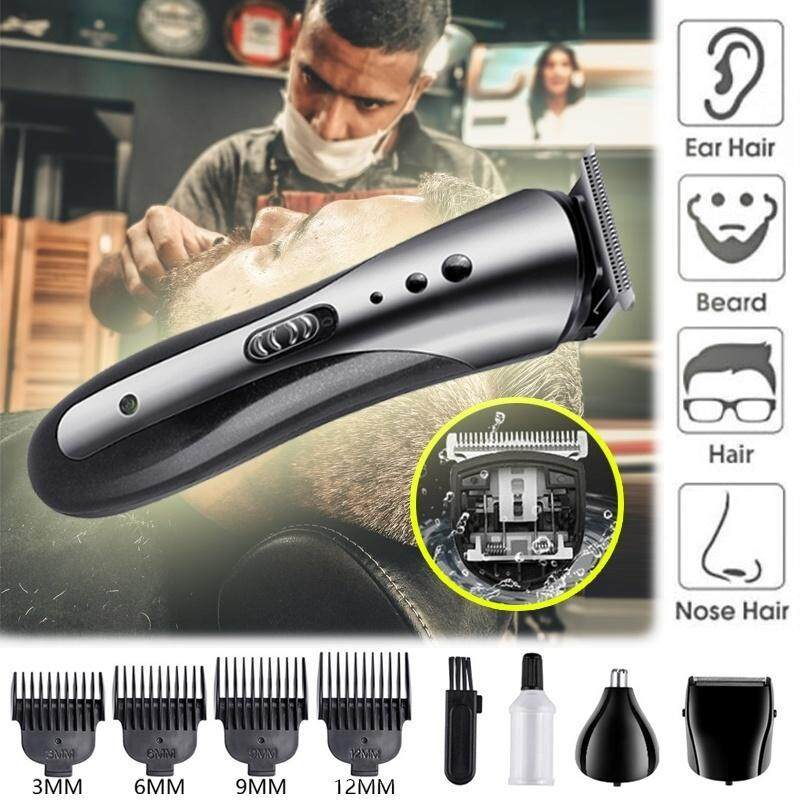 KM-1407 Rechargeable Beard Nose Ear Shaver Hair Clipper Trimmer Tool Hair Trimmer Waterproof Wireless Electric Shaver Elegant Clippers nhập khẩu