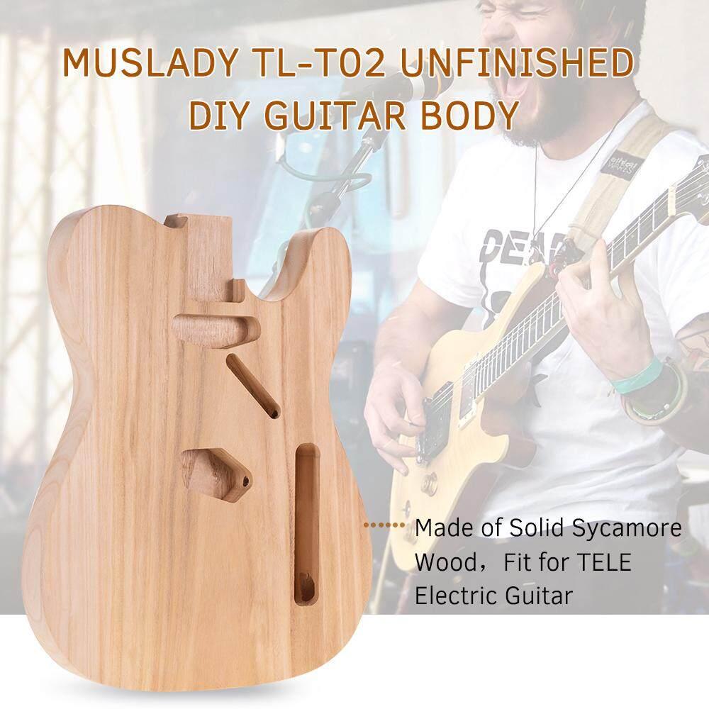 Muslady TL-T02 Chưa Hoàn Thành Đàn Guitar Điện Cơ Thể Sycamore Gỗ Trống Đàn Guitar Thùng Cho Ống Kính Tele Phong Cách Guitar Điện Tự Làm Các Bộ Phận