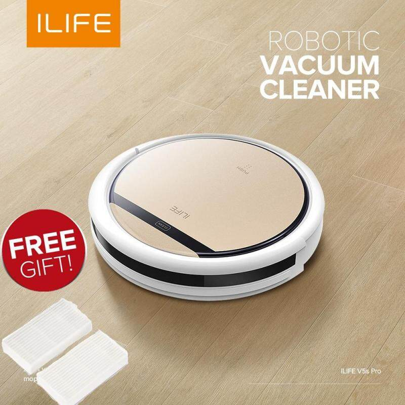 ILIFE V5S Pro Intelligent Robotic Vacuum Cleaner Cordless Dry Wet Sweeping Suction Cleaning Machine Self Charging For  Floor, Cement, Ceramic tile, Wooden floor, Undercoat carpet,Grass Singapore