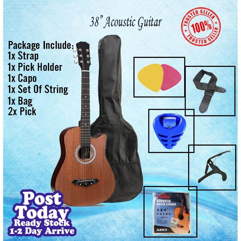 38 inch Guitar with Bag, Strap, Pick & String Set/ Guitar COMBO