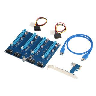 Thẻ Chuyển Đổi PCI-E Thẻ Chuyển Đổi Thẻ Mở Rộng PCI-E X1 Sang PCI-E X16 Với Cáp Nguồn USB3.0, Cắm Và Chơi thumbnail