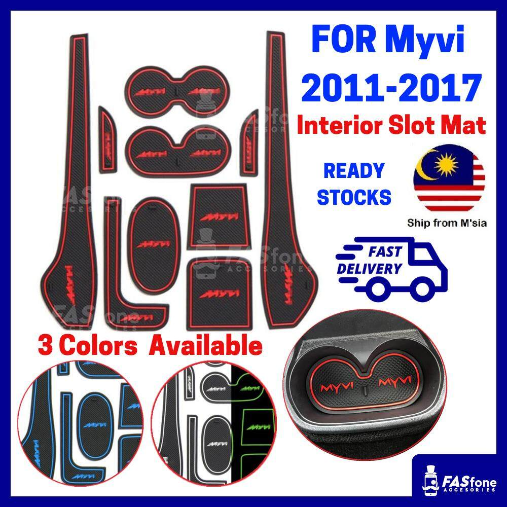 (msia Ready Stocks) Old Myvi 2012 2017 Perodua Myvi Mat Myvi Interior Slot Mat By Fasfone Accessories.