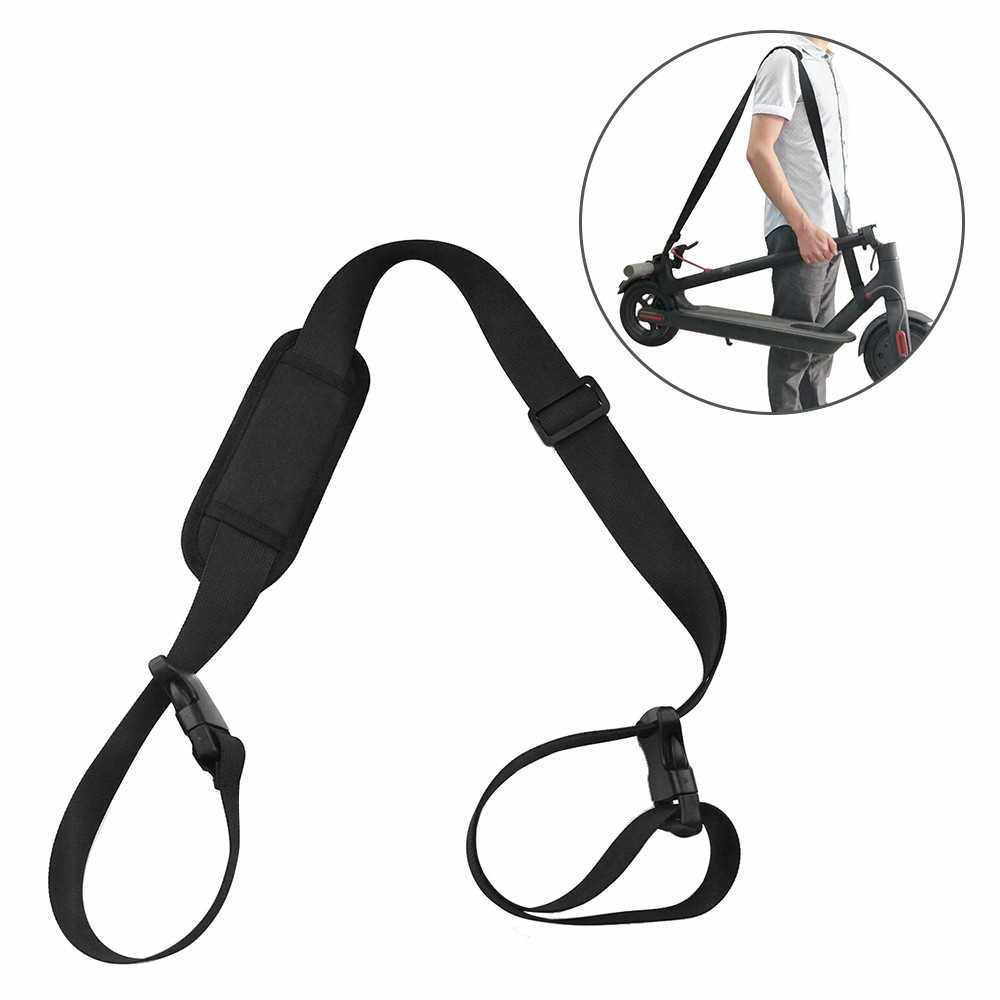 5.2FT Scooter Carrying Strap Oxford Cloth Scooter Shoulder Strap Cross-body Band for Xiaomi Mjia M365 Electric Scooter (Black)