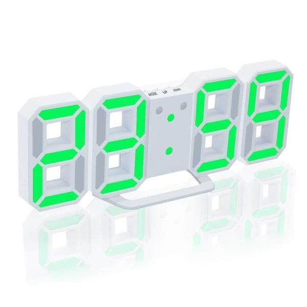 Đèn LED Kỹ Thuật Số Đồng Hồ Báo Thức Lớn Số 3D Đồng Hồ Treo Tường 8 Hình Bàn Điện Tử Đồng Hồ Kệ Nixie Đồng Hồ Horloge Bức Tranh Tường Trên tường Nhà bán chạy