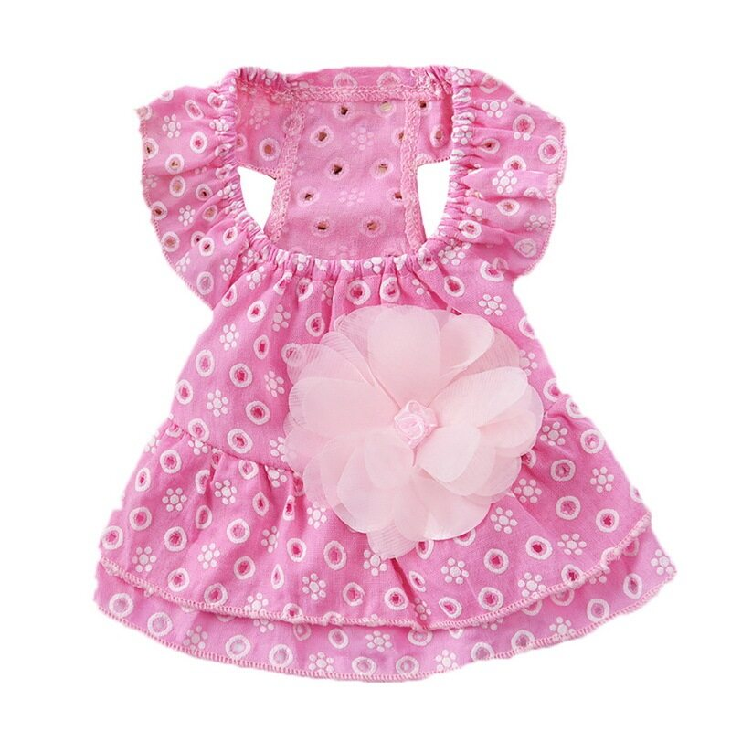 Dog Dress Váy Ren Hoa Cotton Cho Nữ Công Chúa Thú Cưng
