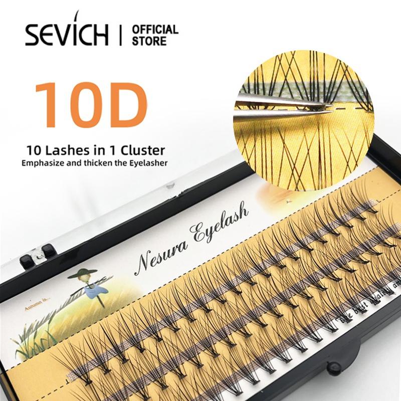 Sevich ขนตาปลอมขนมิงค์ธรรมชาติที่ต่อขนตา.