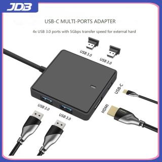 Bộ Chuyển Đổi Độ Nét Cao USB Type-C Sang HDMI 6 Trong 1 4K Cáp Loại C Cổng Kết Nối USB3.0, Giao Diện Video HDMI + Sạc 3 Trong 1 thumbnail