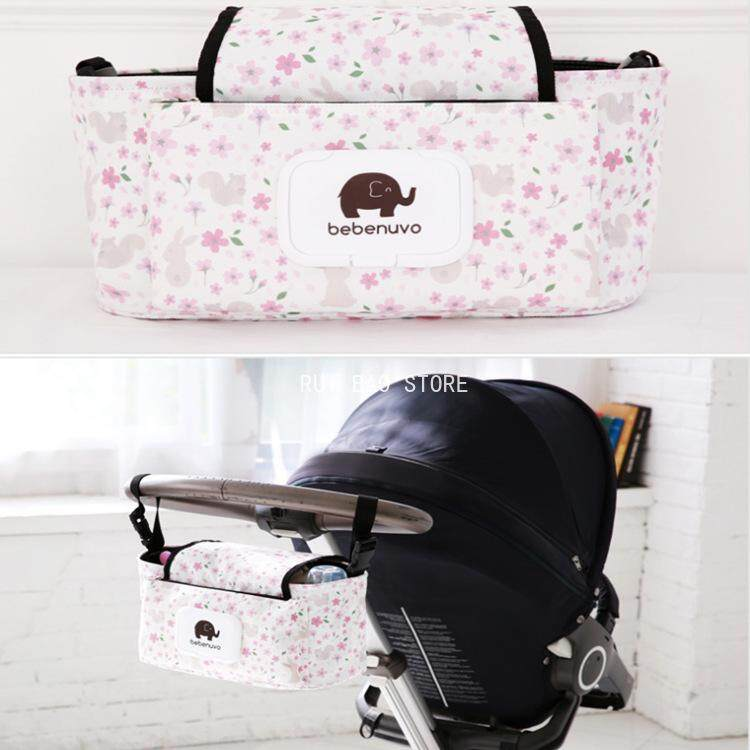 RUI BAO STORE Baby Stroller Bag Storage Bag Mummy Bag(Random Color)