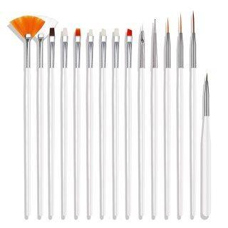 BS15 Chiếc Bút Vẽ Móng Nghệ Thuật Bàn Chải Uv Gel Liner Chuyên Nghiệp Làm Móng Tay Kit , Nail Salon Nguồn Cung Cấp Và Các Công Cụ, Bộ Cọ Vẽ Móng Acrylic thumbnail