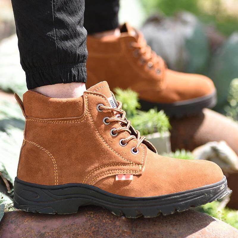 Giá bán Hot Bán chạy Lao Động Bảo Hiểm Giày Lông Da Chống đập phá Đâm-chống Thấm Giày Bảo Vệ Giày Công Sở giày