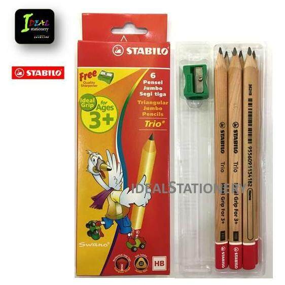 Trio Triangular Jumbo Pencil Free Sharpener (6pcs/box) By Ideal Stationery.