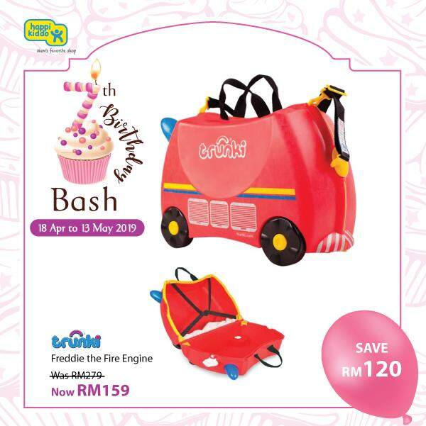 Trunki Kid Luggage Fire Engine By Happikiddo.
