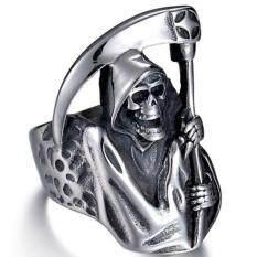 Fancyqube 1 ชิ้นตาย R eaper แหวนพังก์ร็อกฮิปฮอปกะโหลกแหวนฮาโลวีนปาร์ตี้ BIKER ระเบิดมืดเครื่องประดับแฟชั่นสำหรับผู้ชายเด็ก dropship