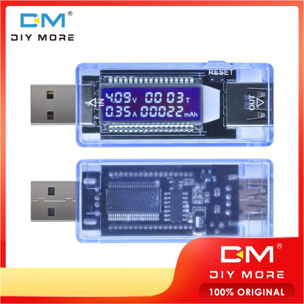Original Diymore USB Charger voltage current meter working time energy battery capacity tester meter mobile energy detector battery test