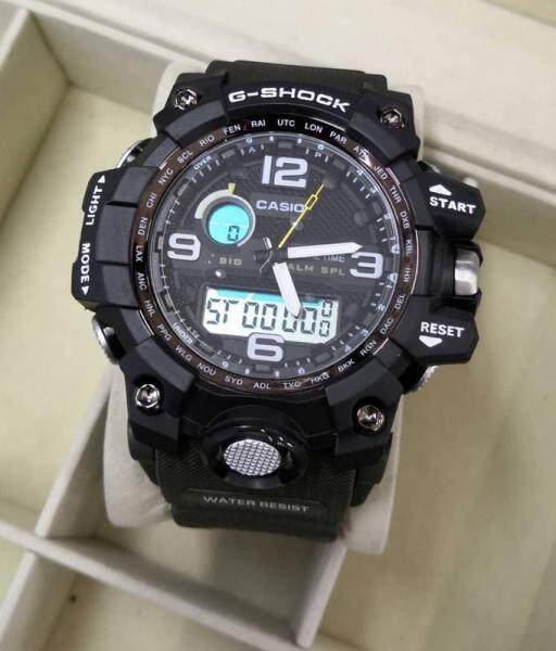 New Sport Mudmaster Casio_G_SHOCK_Dual Time Dual Time Display Fashion Casual Watch For Men Ready Stock 100% Mineral Glass New Design Malaysia