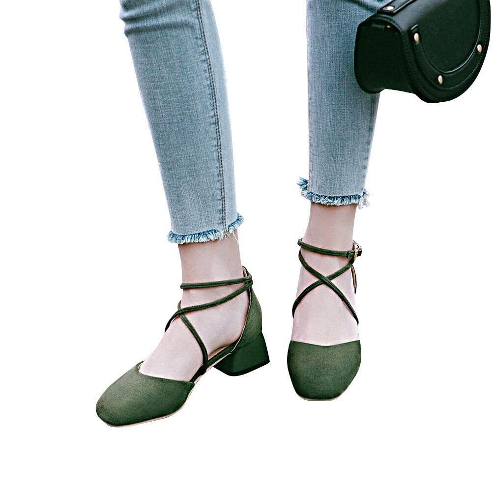 Demeis ผู้หญิงปั๊ม Hollow รอบแผ่นแปะจมูกลอกสิวเสี้ยน Frosted รองเท้า By Demeis Store.