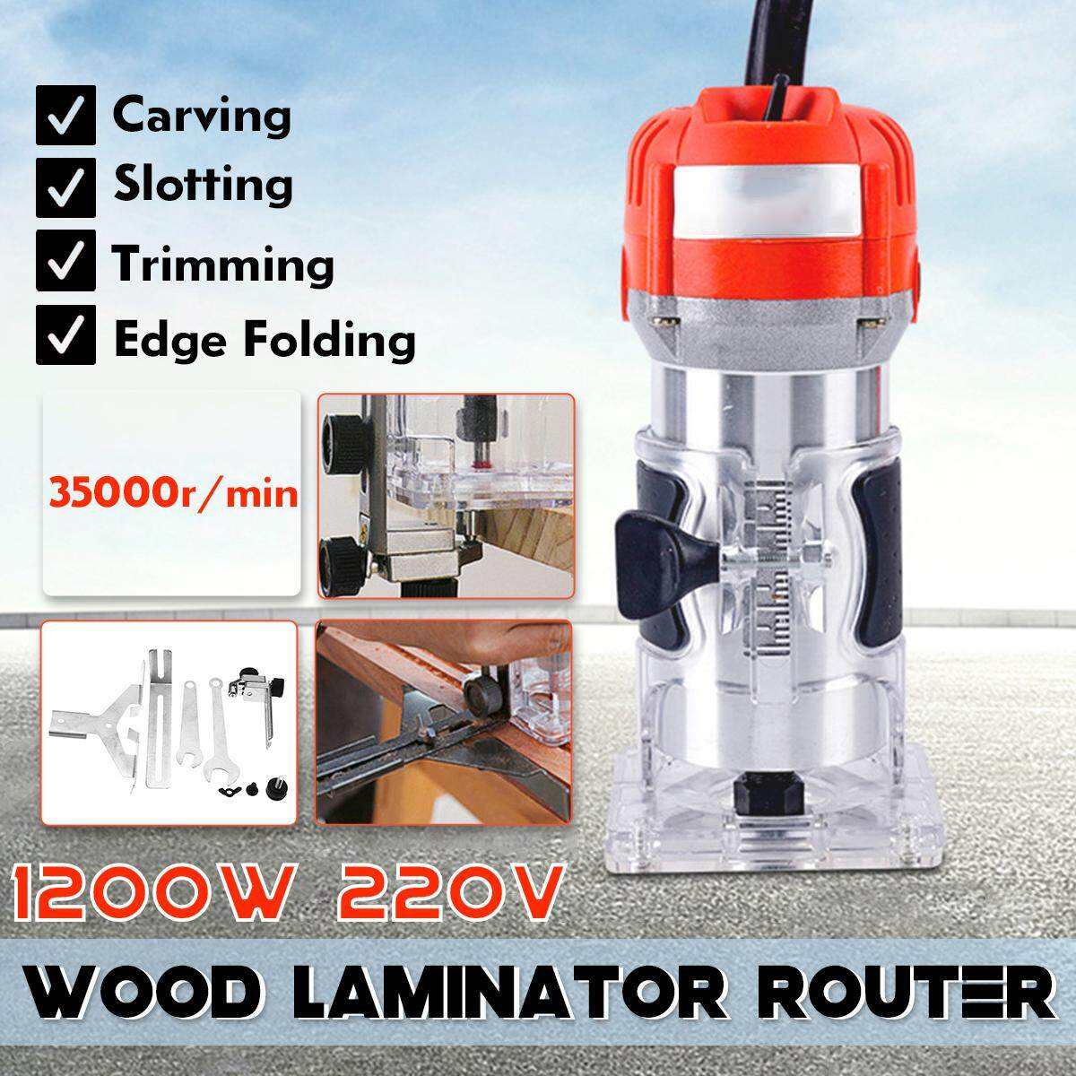 1/4inch Wood Laminate Palm Router Electric Hand Trimmer Edge Joiners Tool Woodworking