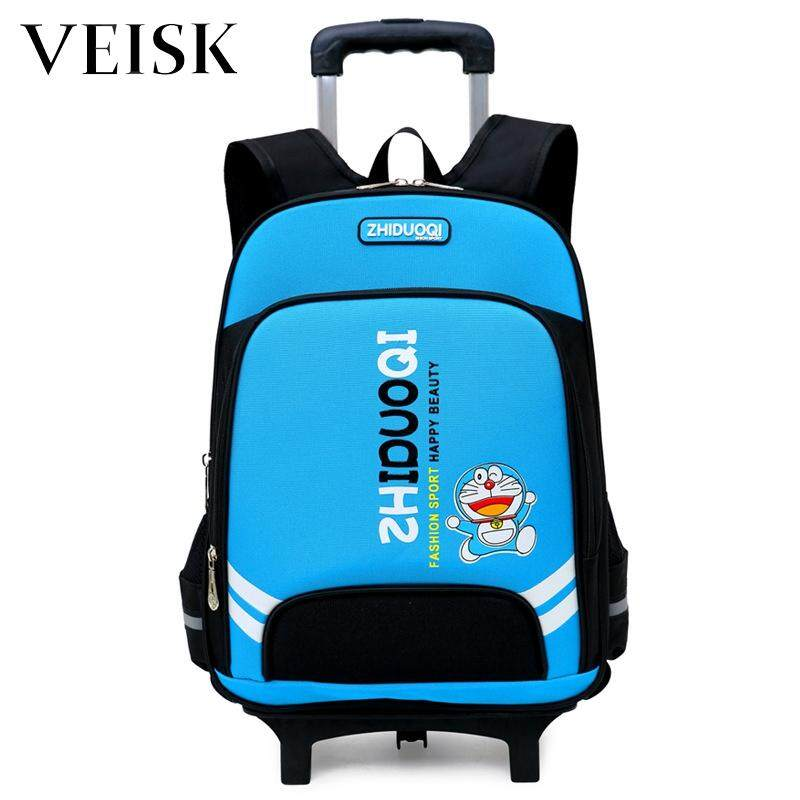 Primary School Students Bag Children Trolley Bag Can Be Printing Logo2-4-6 Grade Campus Shoulder Bag