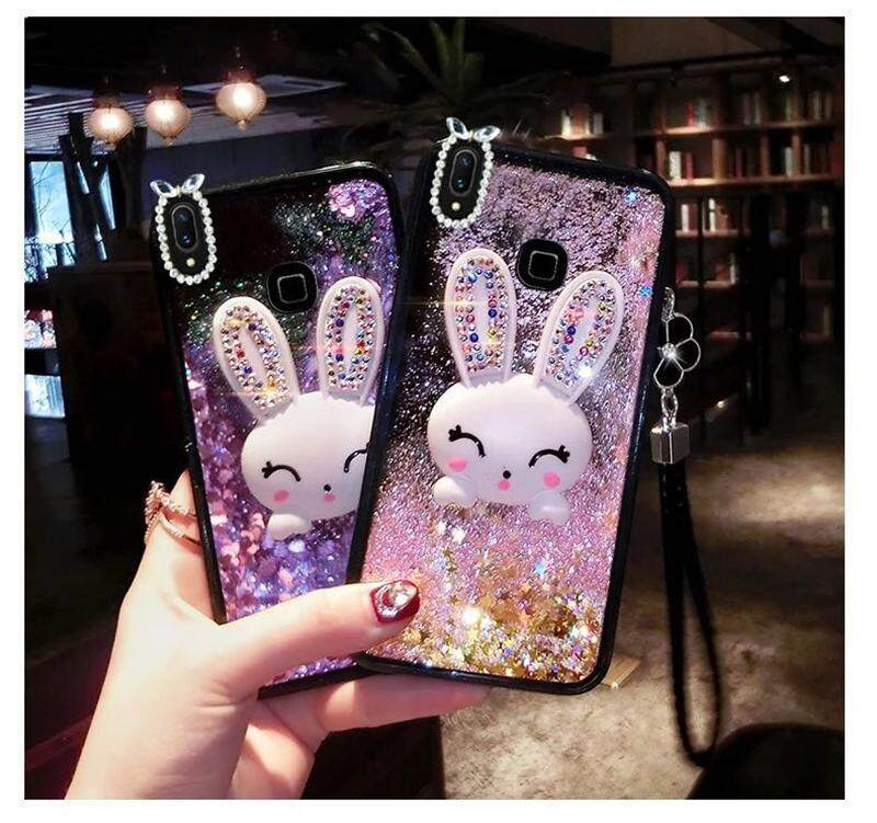 Casing Vivo Y91 Case Vivo Y95 Case Luxury Fashion Quick Sand With Fashion Design Shockproof Cute Case For Vivo Y91y95 With Strap