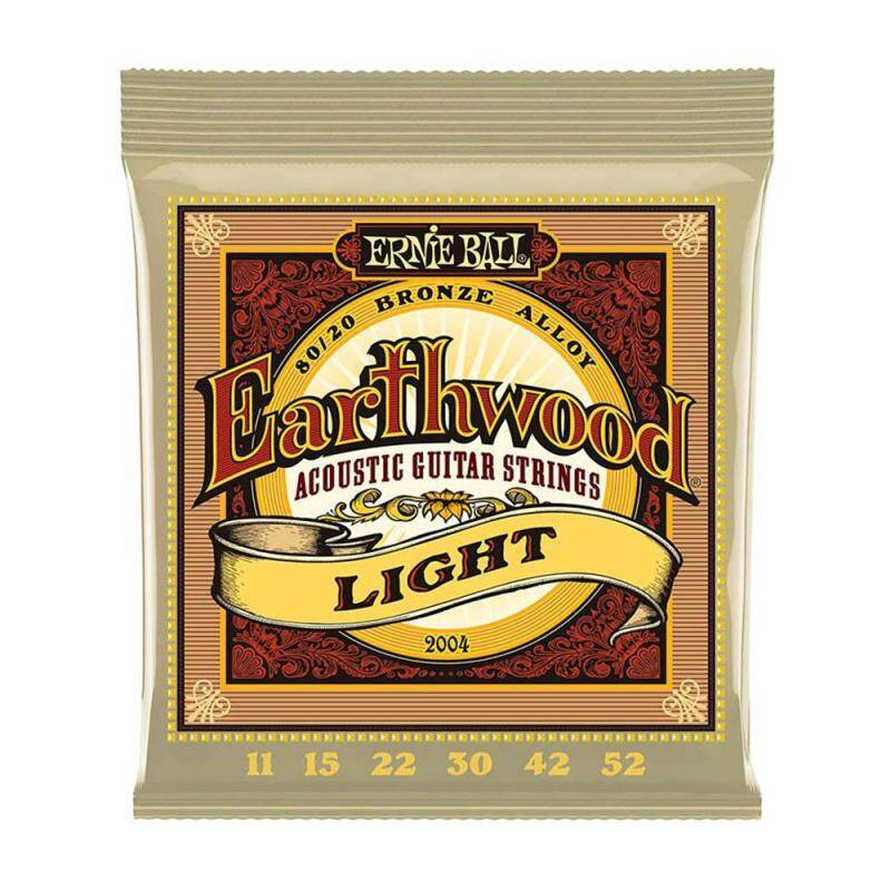 Ernie Ball 2004 Earthwood Light Acoustic Guitar Strings 11-52 Musical Instrument Parts Malaysia