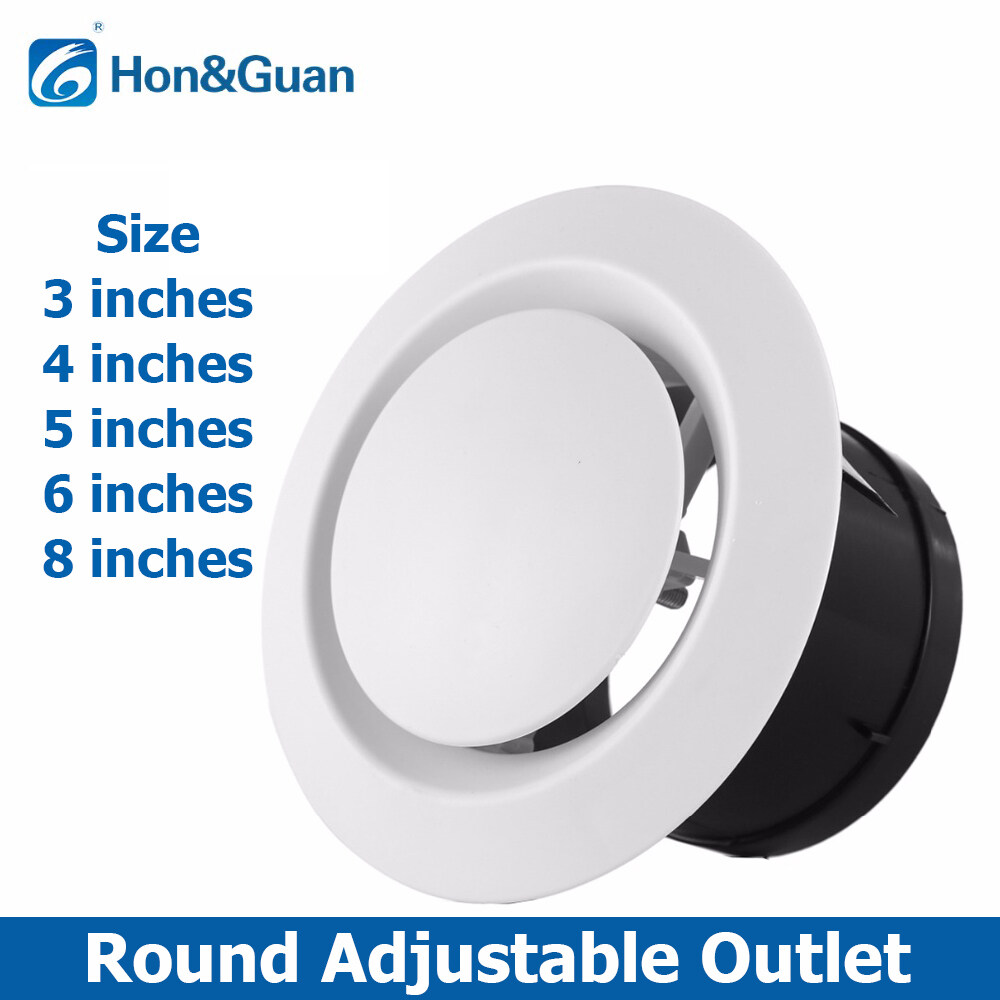 Air Vent Ceiling Grill Outlet Inlet Adjustable Round Ventilation Fan 4 dia 100mm