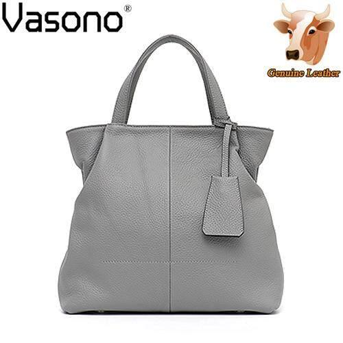 Vasono High Quality Top Grain 100% Genuine Cow Leather Women Handbag Woman Sling Shoulder Bags