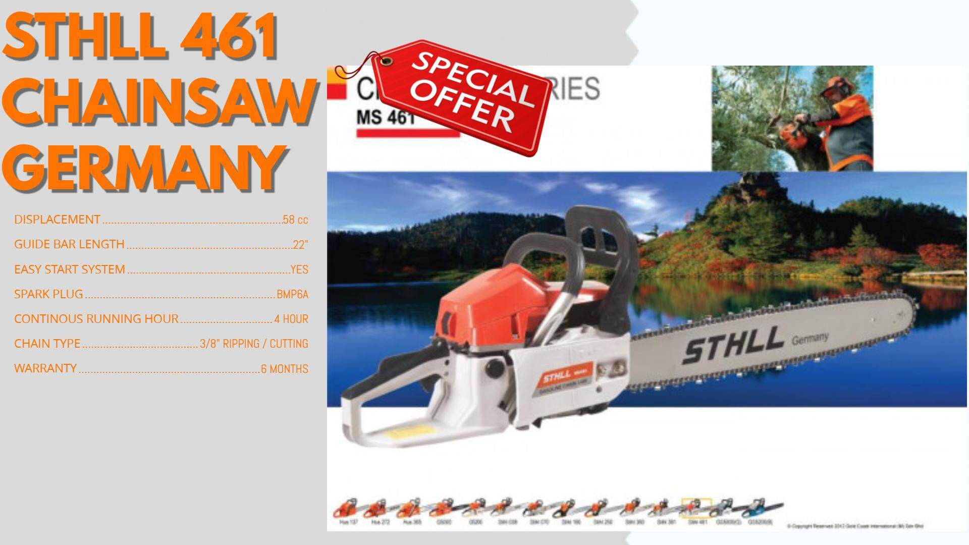 STHLL 461 CHAINSAW GERMANY [ SYN MOH SENG TRADING ]