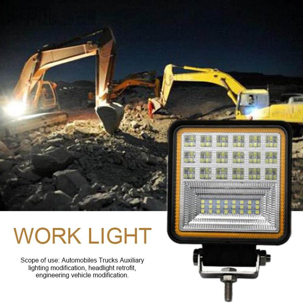 126W45MM รถยนต์ LED Light Light Auxiliary Spotlight ไฟตัดหมอกรถจักรยานยนต์รถโฟล์คลิฟท์โคมไฟสแควร์รูรับแสง