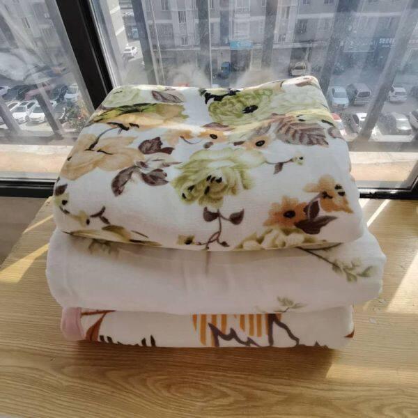 Garden Flower bedding cotton double layer raschel blanket pure cotton printing blanket spring and autumn blanket air conditionin